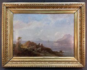 kummer-prof-carl-robert-suedliche-kuestenlandschaft-1885-oel-a-papier