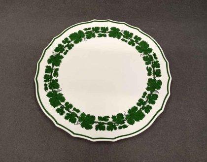 meissen-weinlaub-grosse-kuchenplatte-d-32-5-cm-voller-gruener-weinkranz